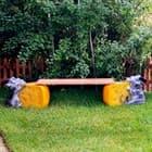 Детские скамейки! Все для их отдыха и игр.