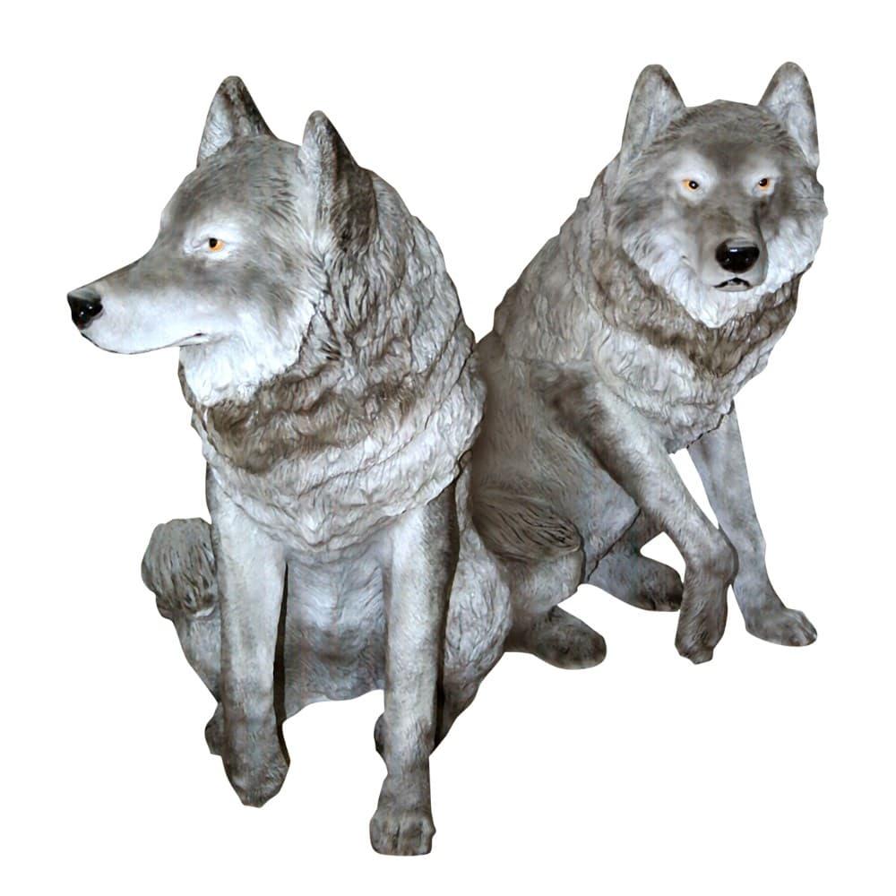 Садовая скульптура Волки
