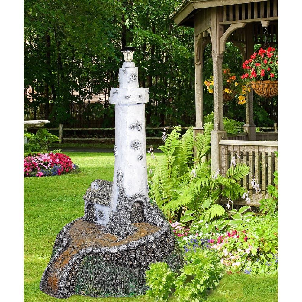 Садовая фигура мельница декоративная