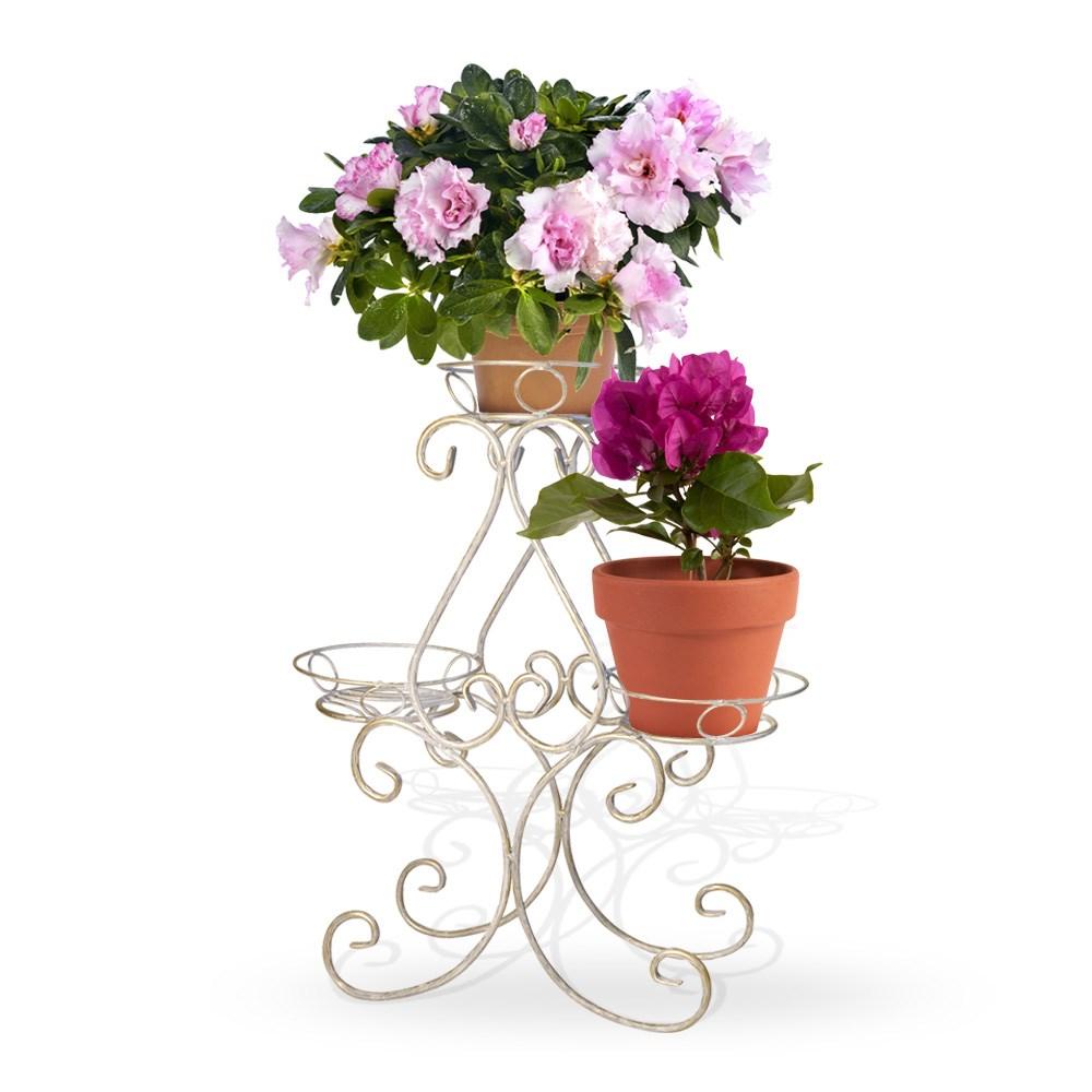 фото Кованая цветочная подставка