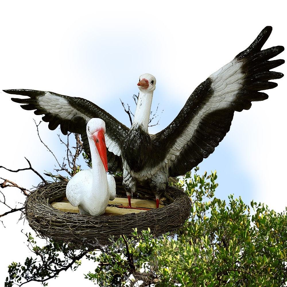 Садовая фигура гнездо аиста
