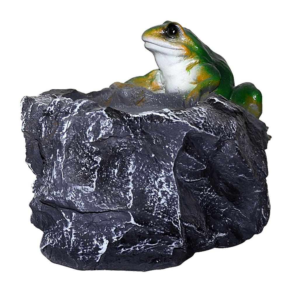 Кашпо камень с лягушкой