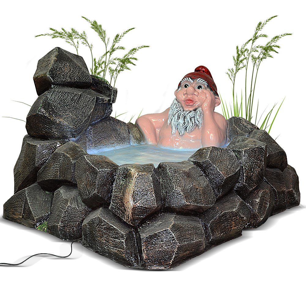 Садовый фонтан гном