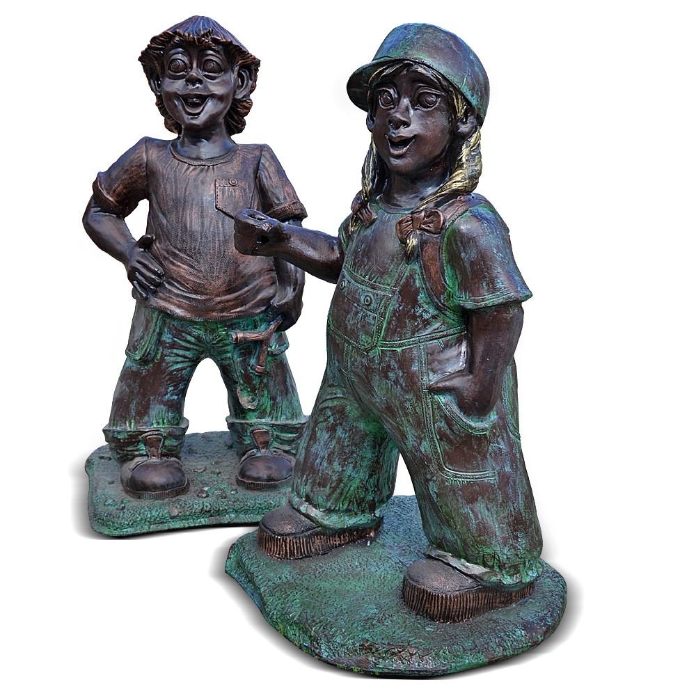 Парковая скульптура под бронзу