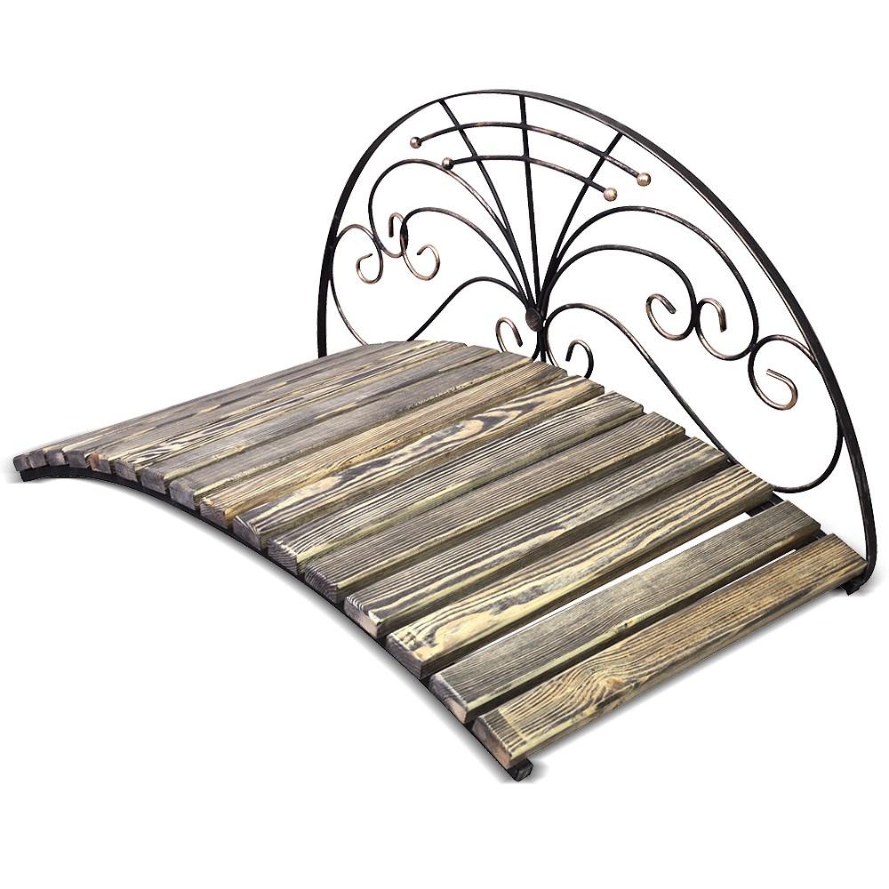 Кованый мостик с перилами полукругом