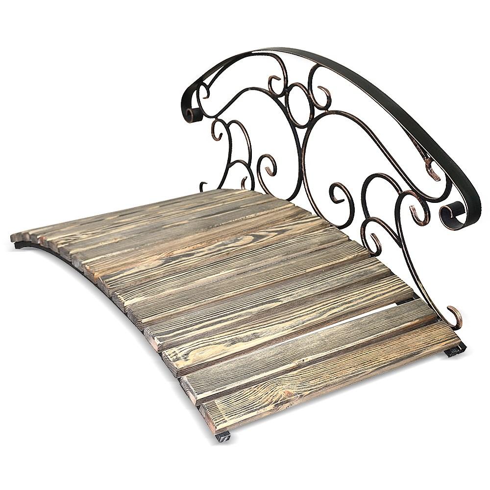 Декоративный мостик с перилами с одной стороны