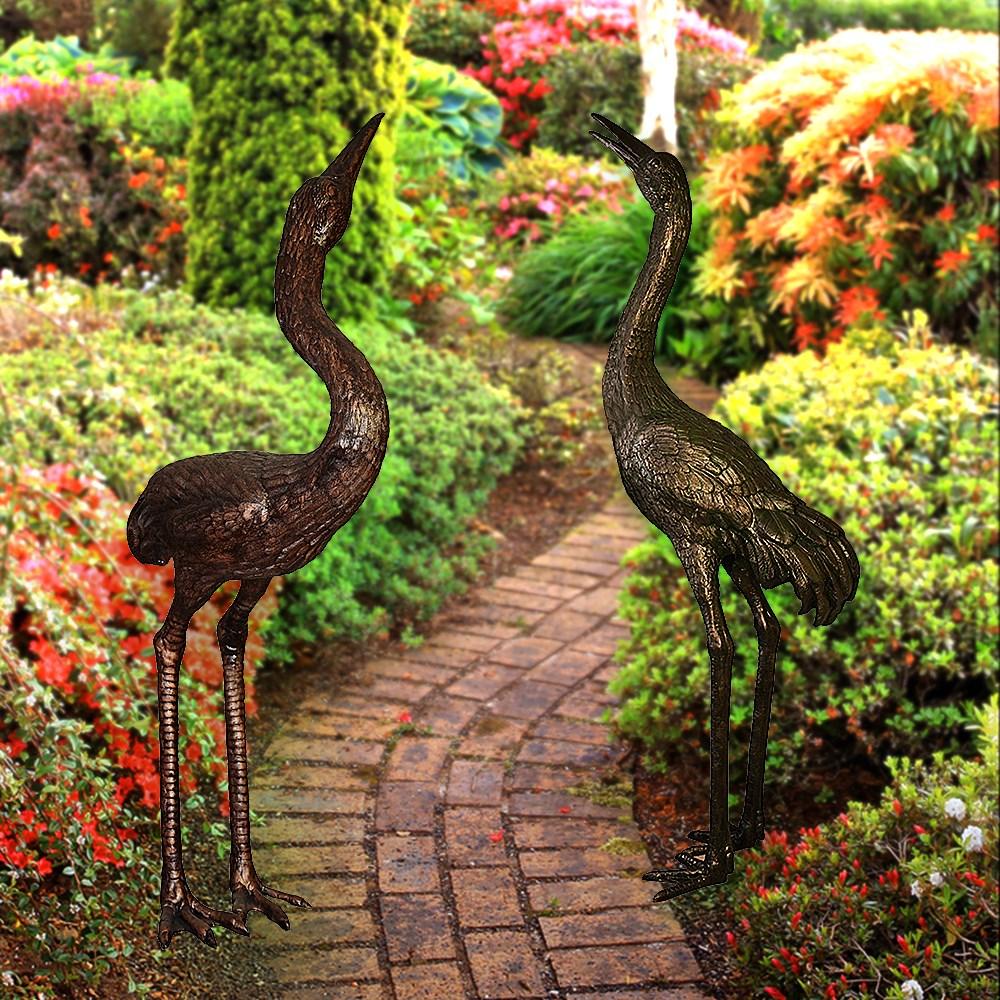 Комплект садовых фигур под бронзу птицы