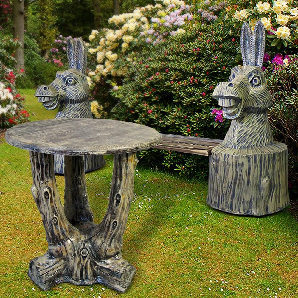 Комплект садовой мебели скамейка и стол