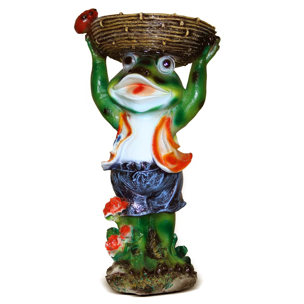 Лягушка садовая фигура