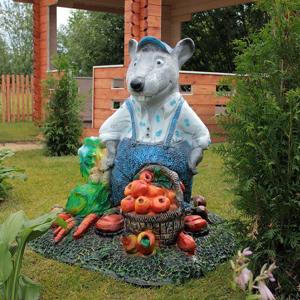 Садовая фигура Крыс с овощами