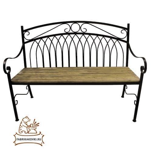 фото Кованая скамейка для дачи