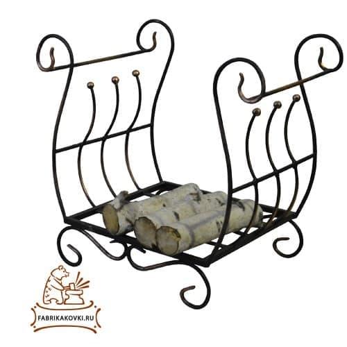 фото Кованая дровница для камина