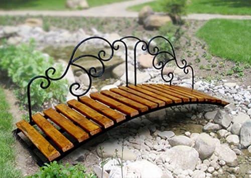 Декоративный мостик кованый