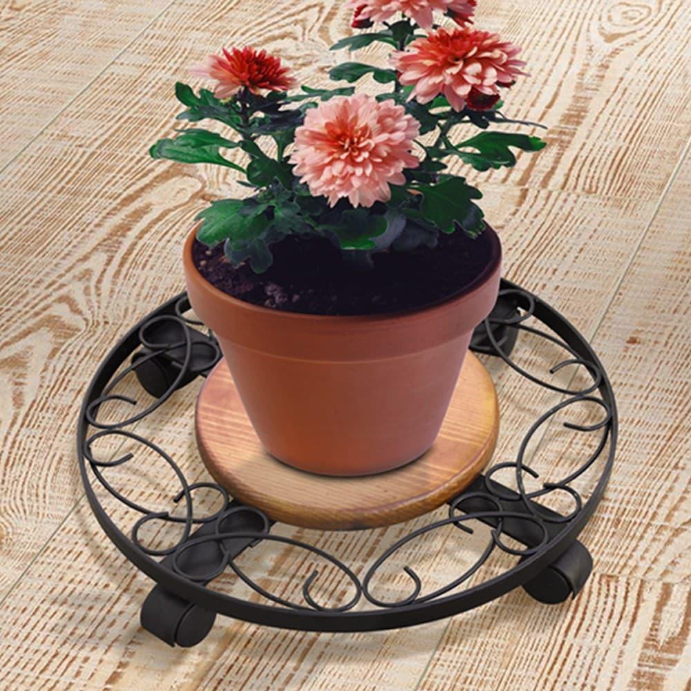 фото Подставка для цветов на колесиках