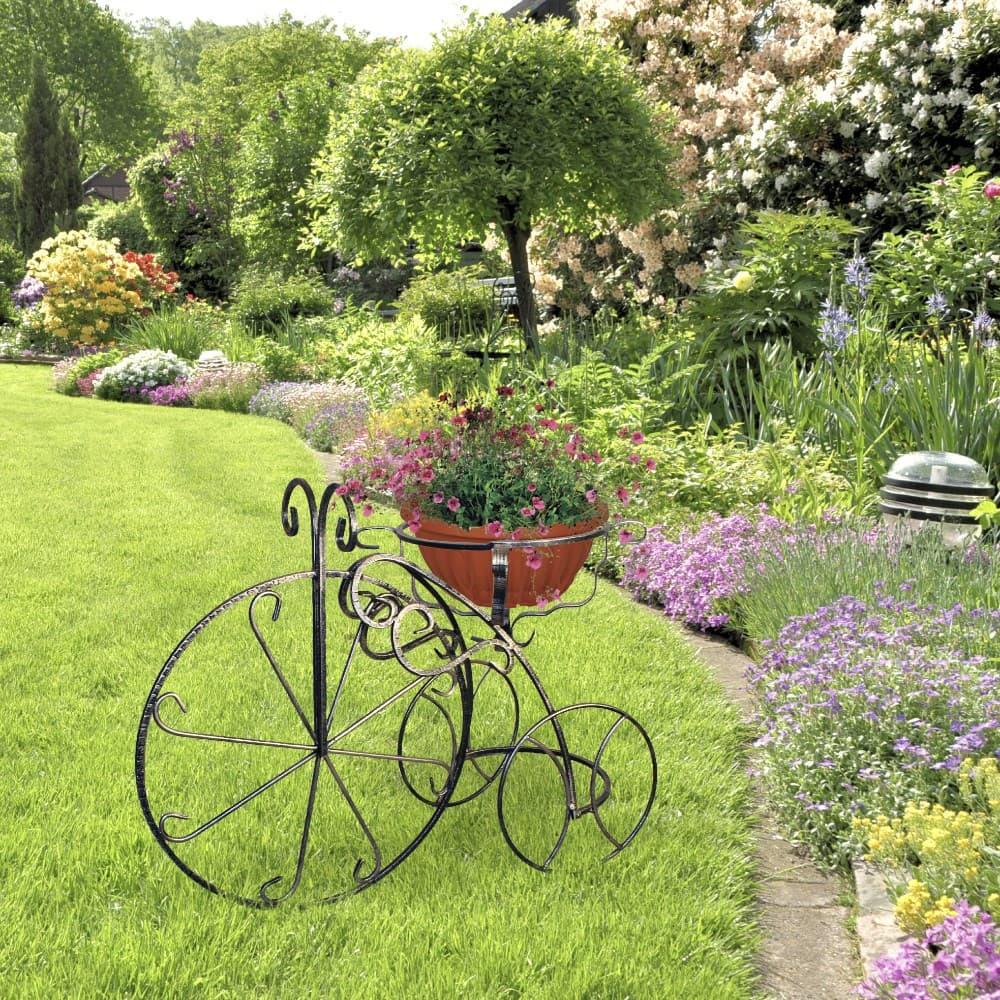Садовые подставки велосипед