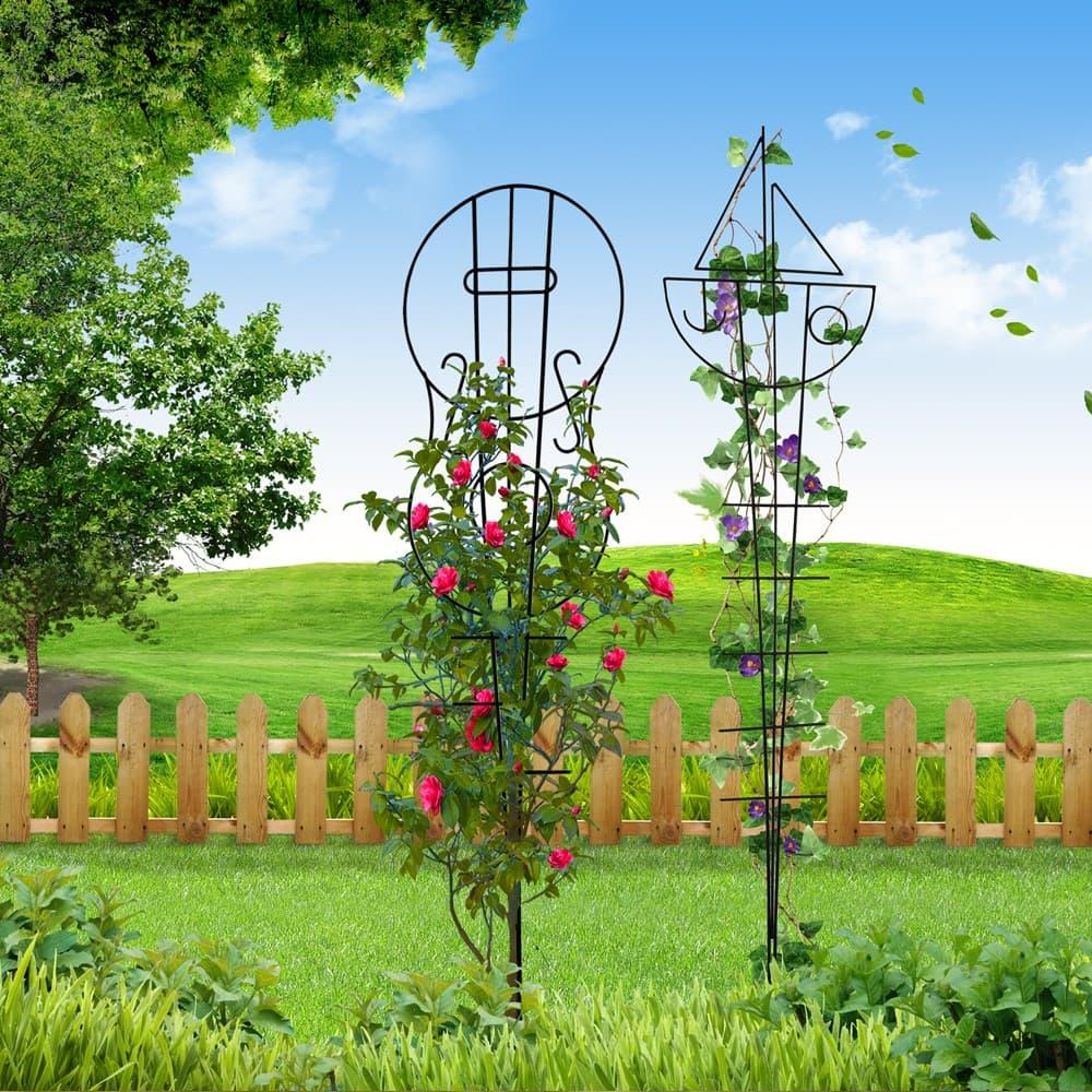 Кованые держатели для вьющихся растений