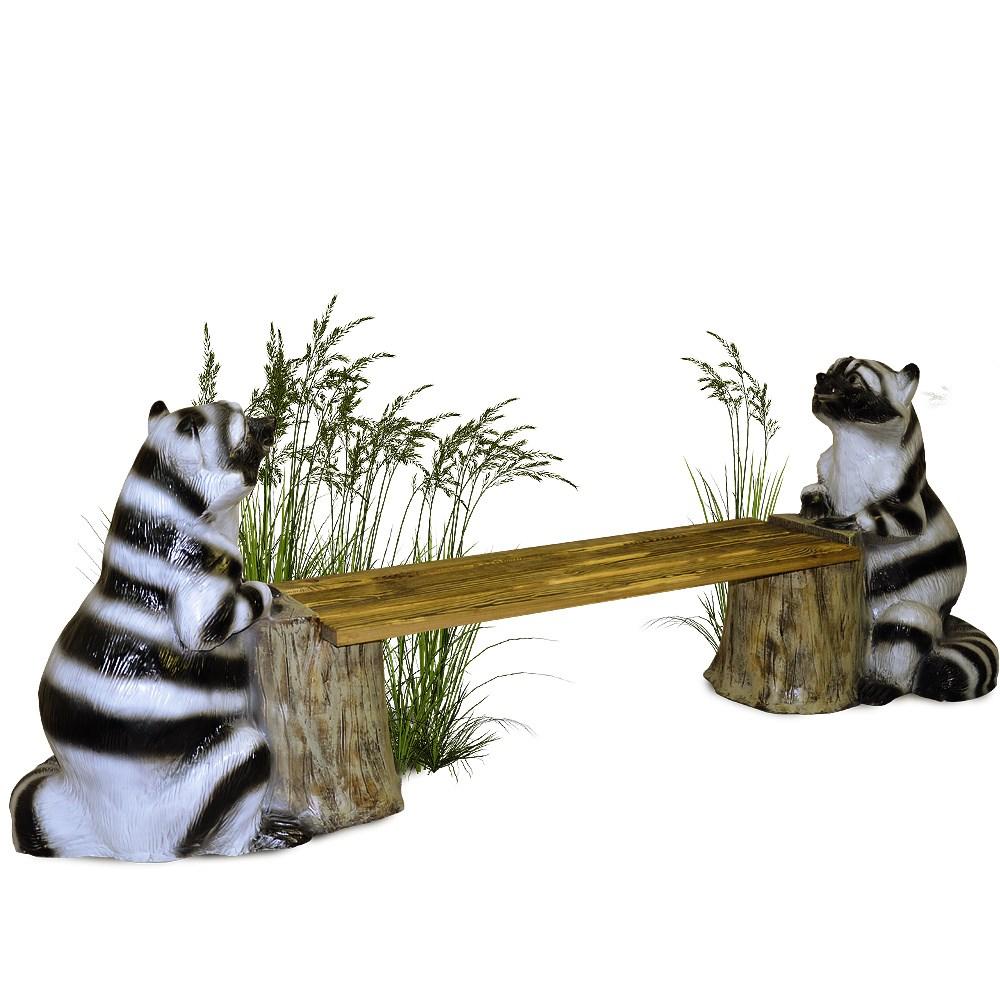 Скамейка для сада Енот на пне