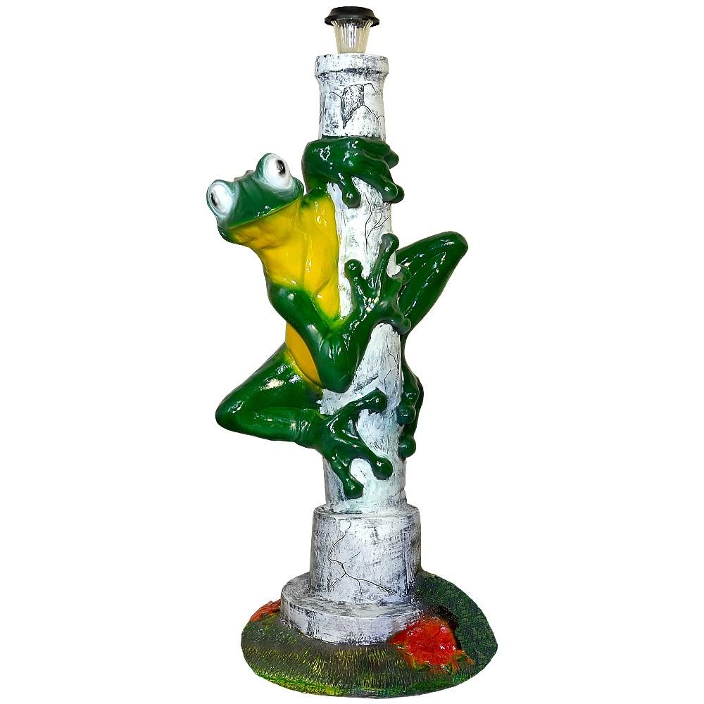 Садовая фигура Лягушка на столбе - фото 12114
