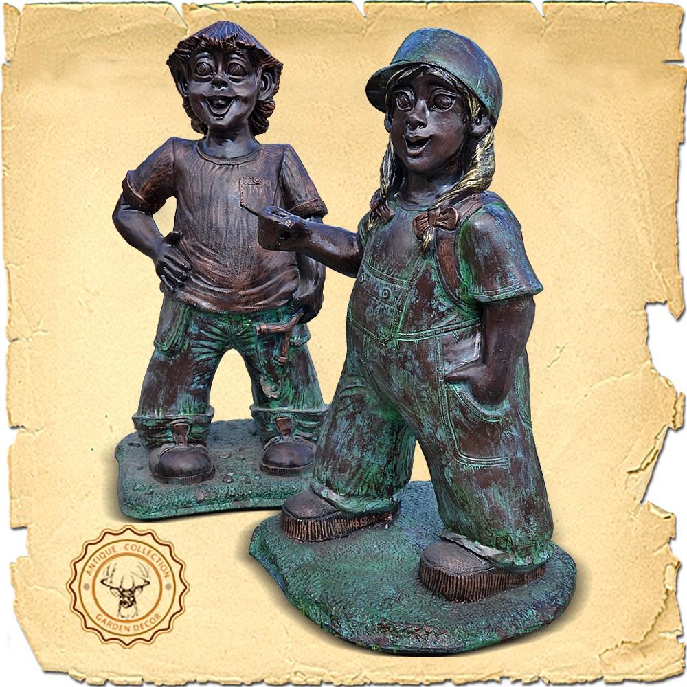 Садово-парковая скульптура Мальчик хулиган US07472