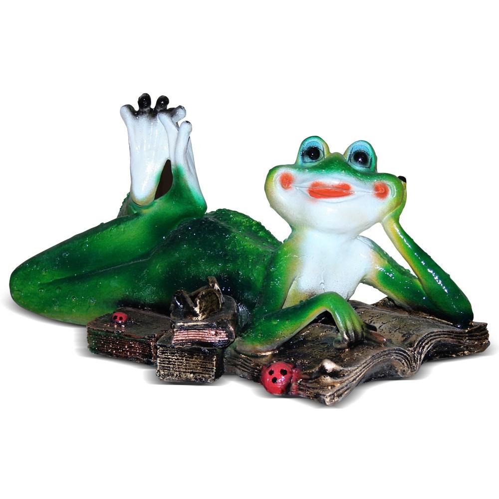 Декоративная фигура Лягушка с книгой - фото 13719