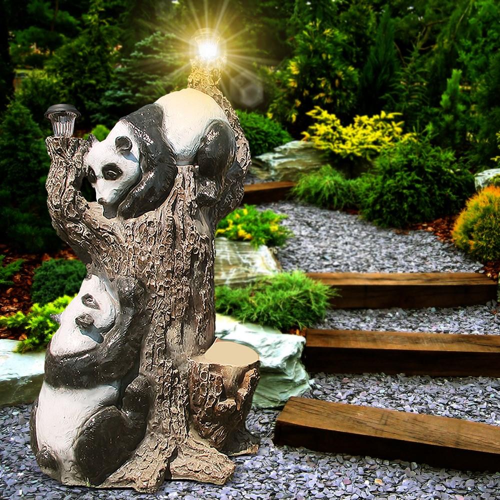 Садовый светильник Дерево с пандами - фото 13796
