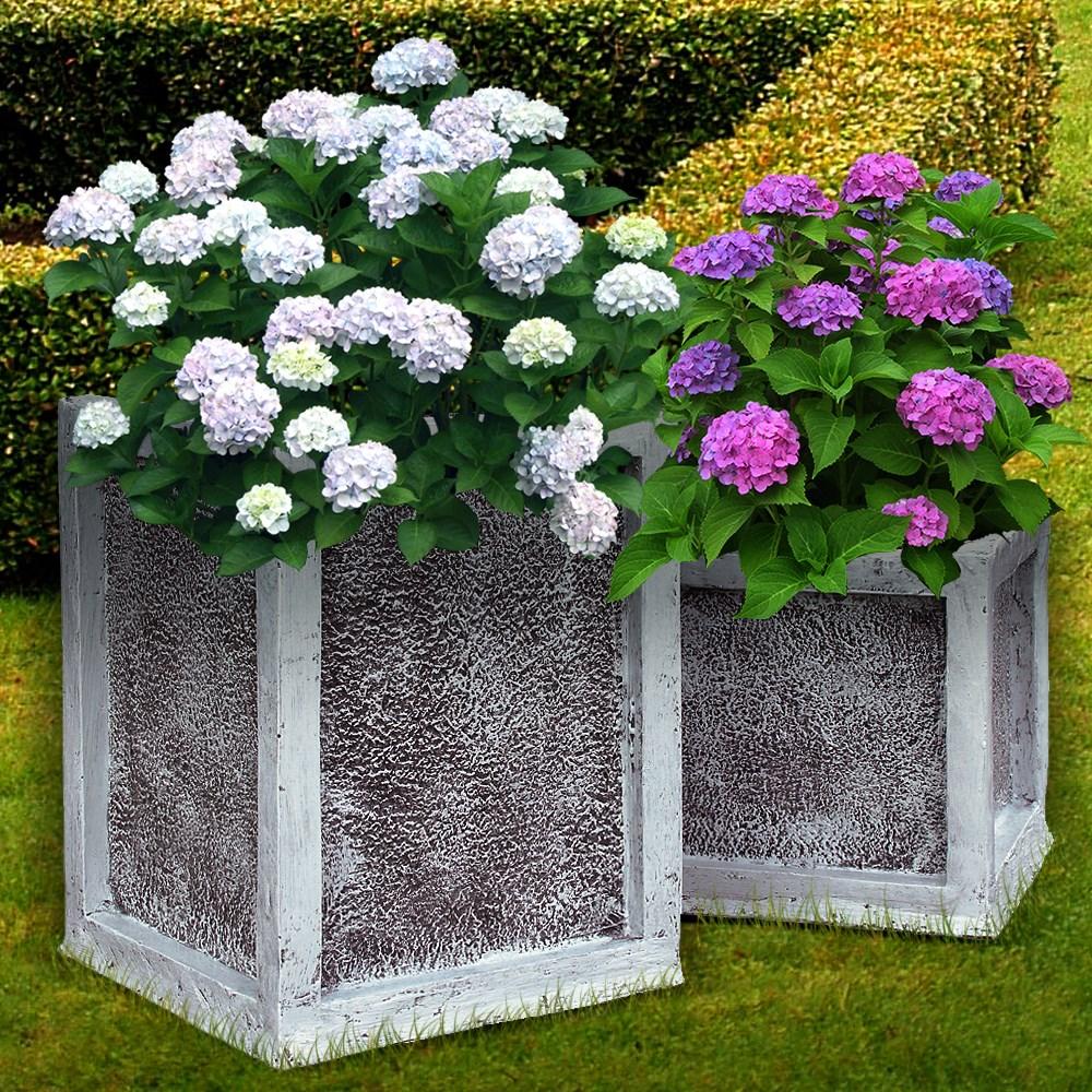 Кашпо квадратное для сада - фото 14107