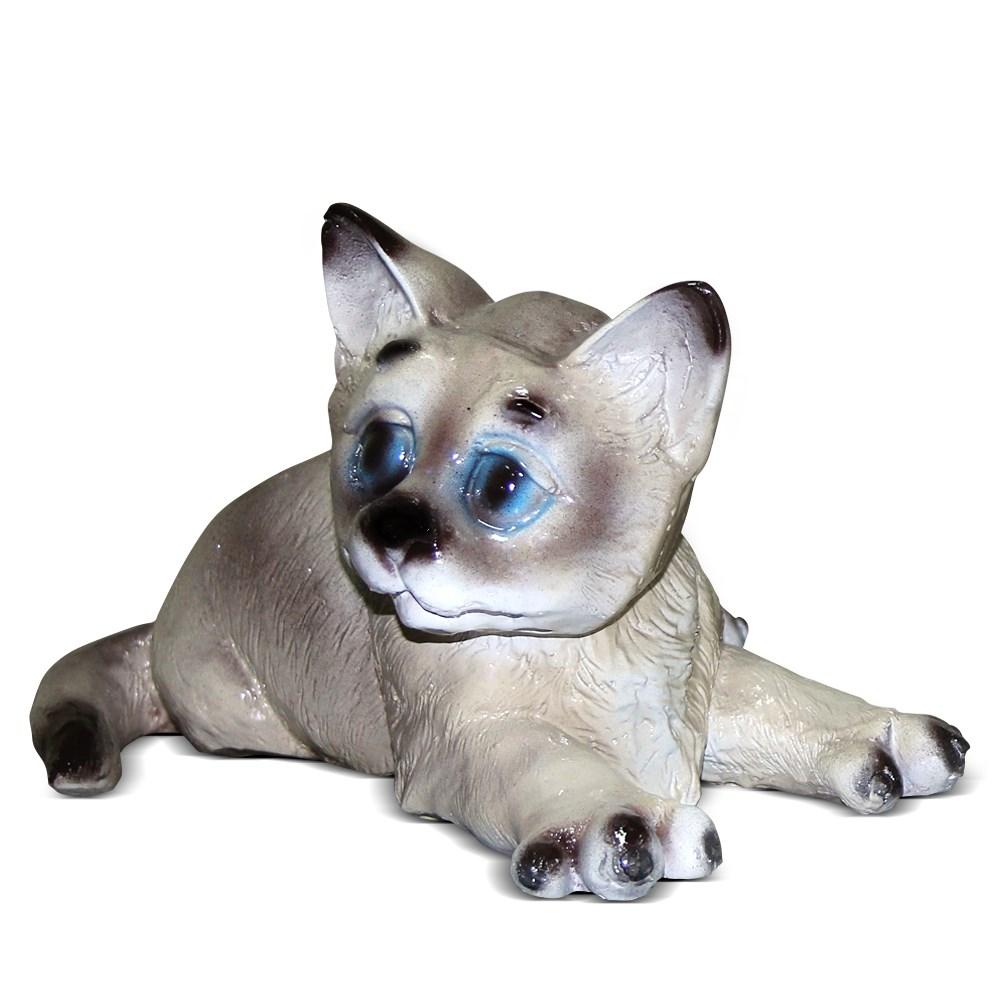 Декоративная фигурка Котенок лежит - фото 14158