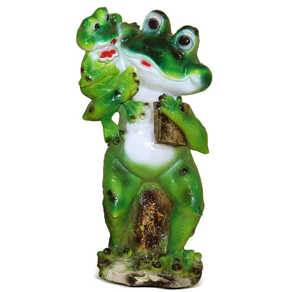 Фигура садовая Лягушка с лягушонком - фото 14274