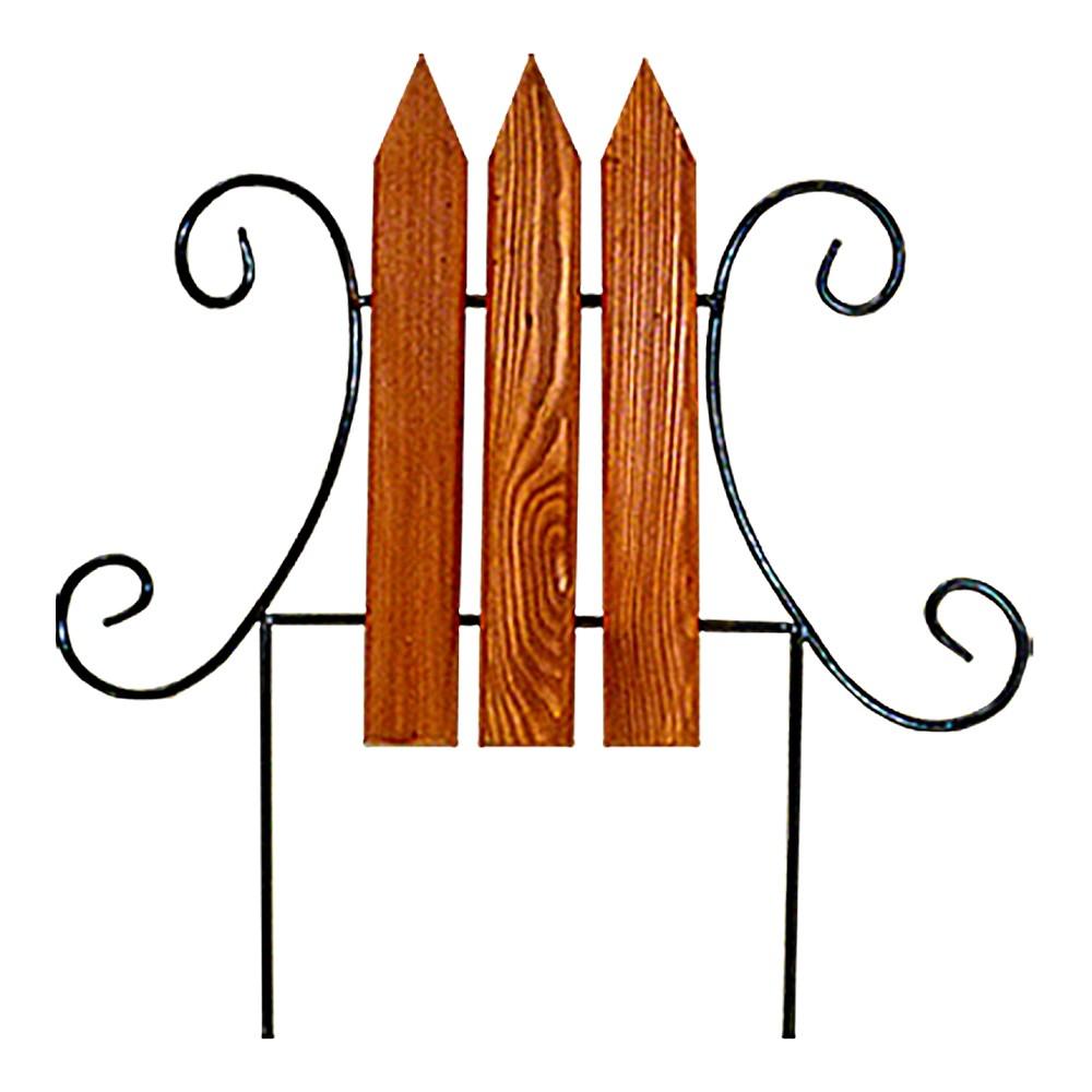 Кованый секционный заборчик с деревом (3 штакетины) - фото 14387