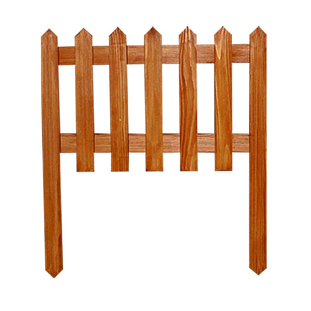 Секционный забор из дерева - фото 14392