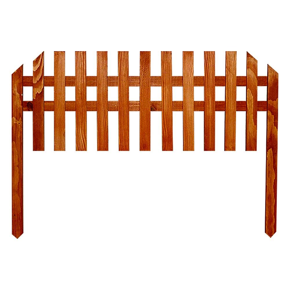 Секционный заборчик из дерева - фото 14406