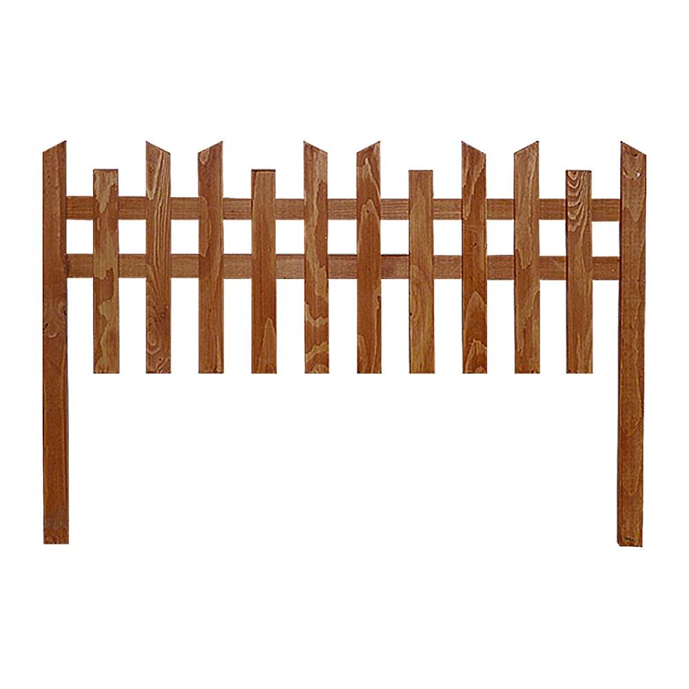Деревянный секционный заборчик - фото 14407