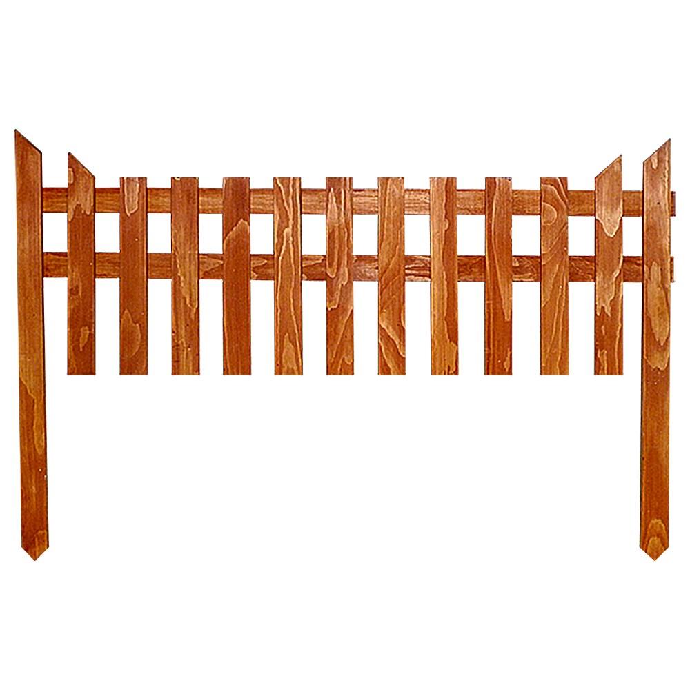 Дачный забор из дерева - фото 14408