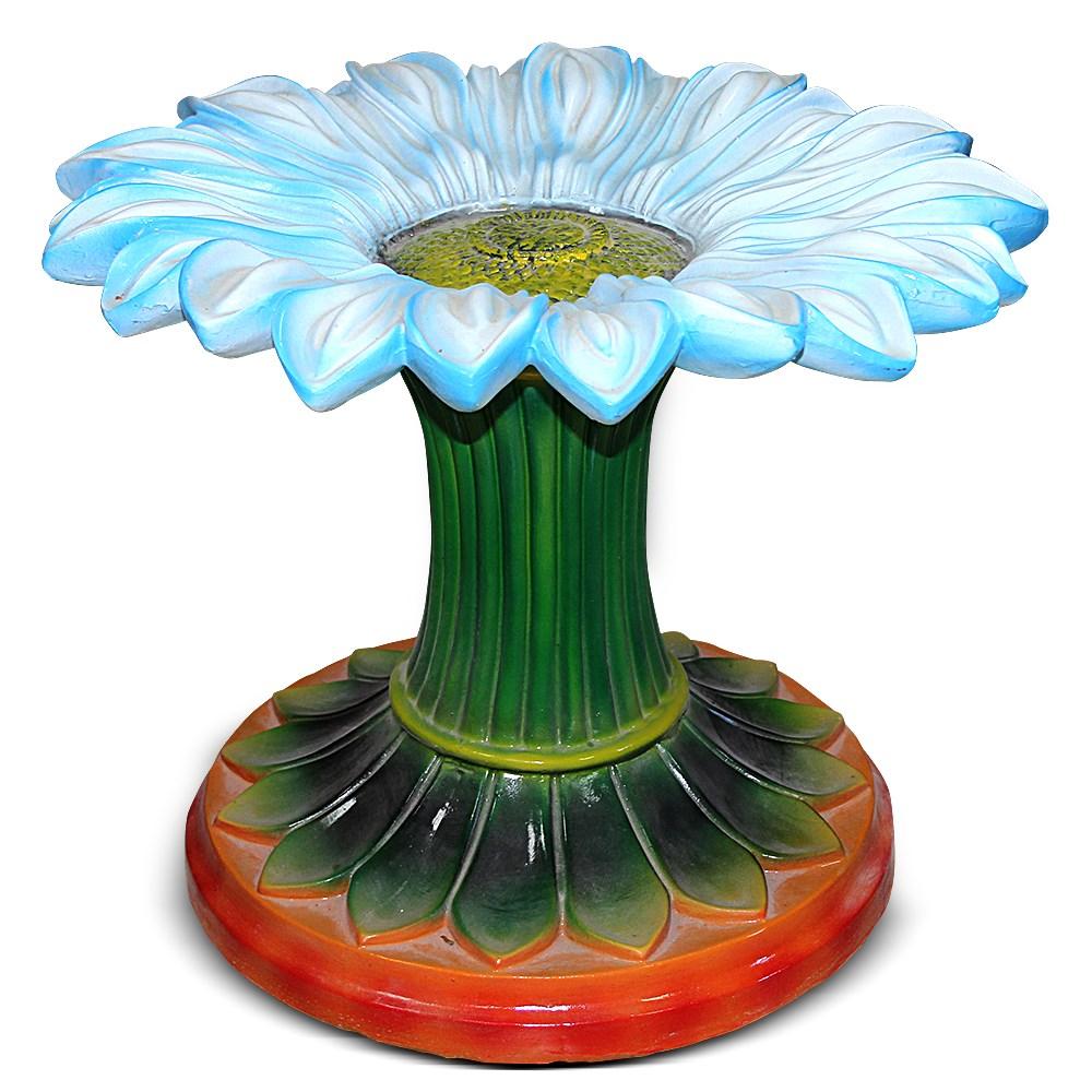 Стол со стеклянной столешницей Цветок - фото 14430