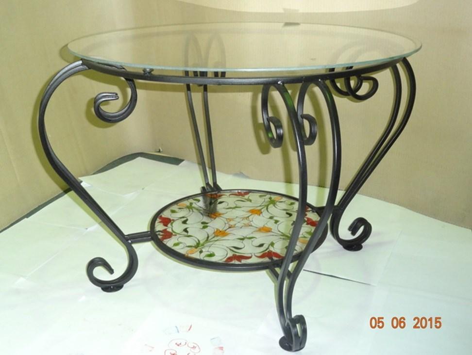 Кованый столик с витражом - фото 14462