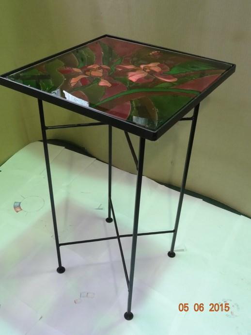 Журнальный столик с витражом - фото 14474