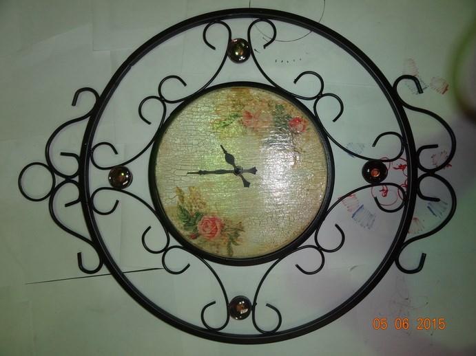 Кованые часы с декупажом - фото 14476