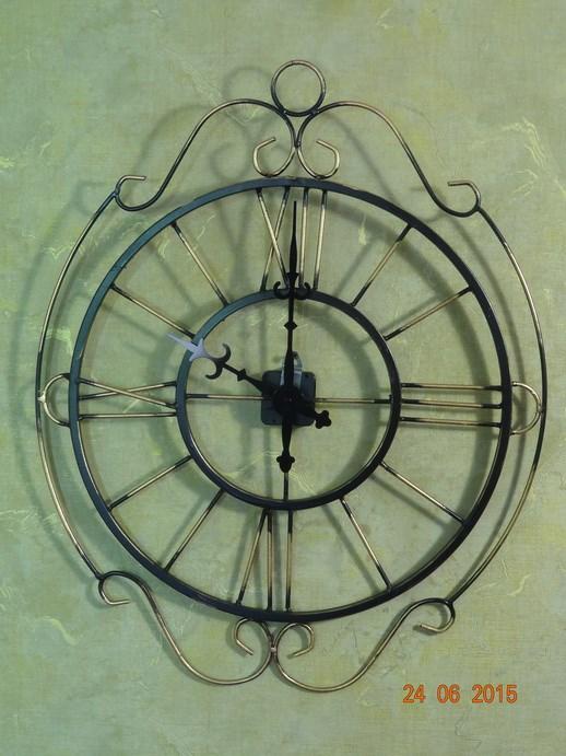 Кованые часы на стену - фото 14480