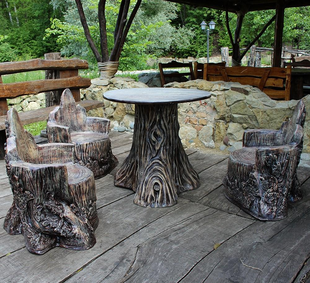 """Комплект садовой мебели """"Лесные пни"""" - фото 15124"""