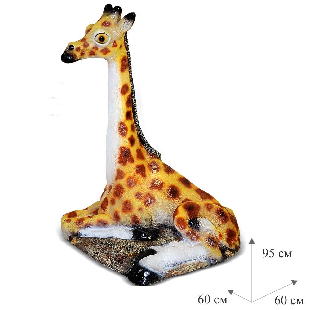 Садовая фигура Крышка люка Жираф - фото 15199