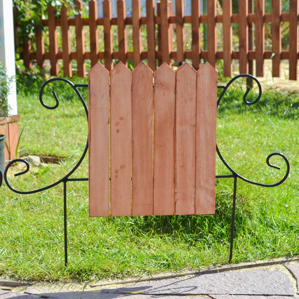 Кованый секционный забор с деревом (6  штакетин) - фото 15538