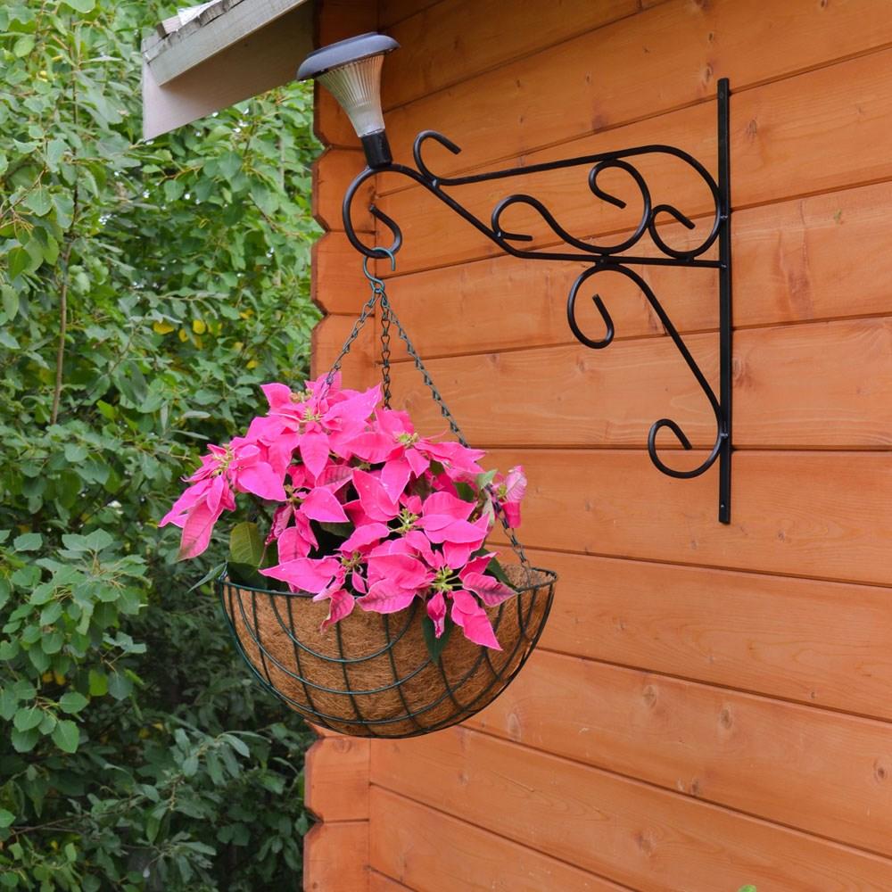 Кронштейн настенный для цветов с фонарем - фото 15547