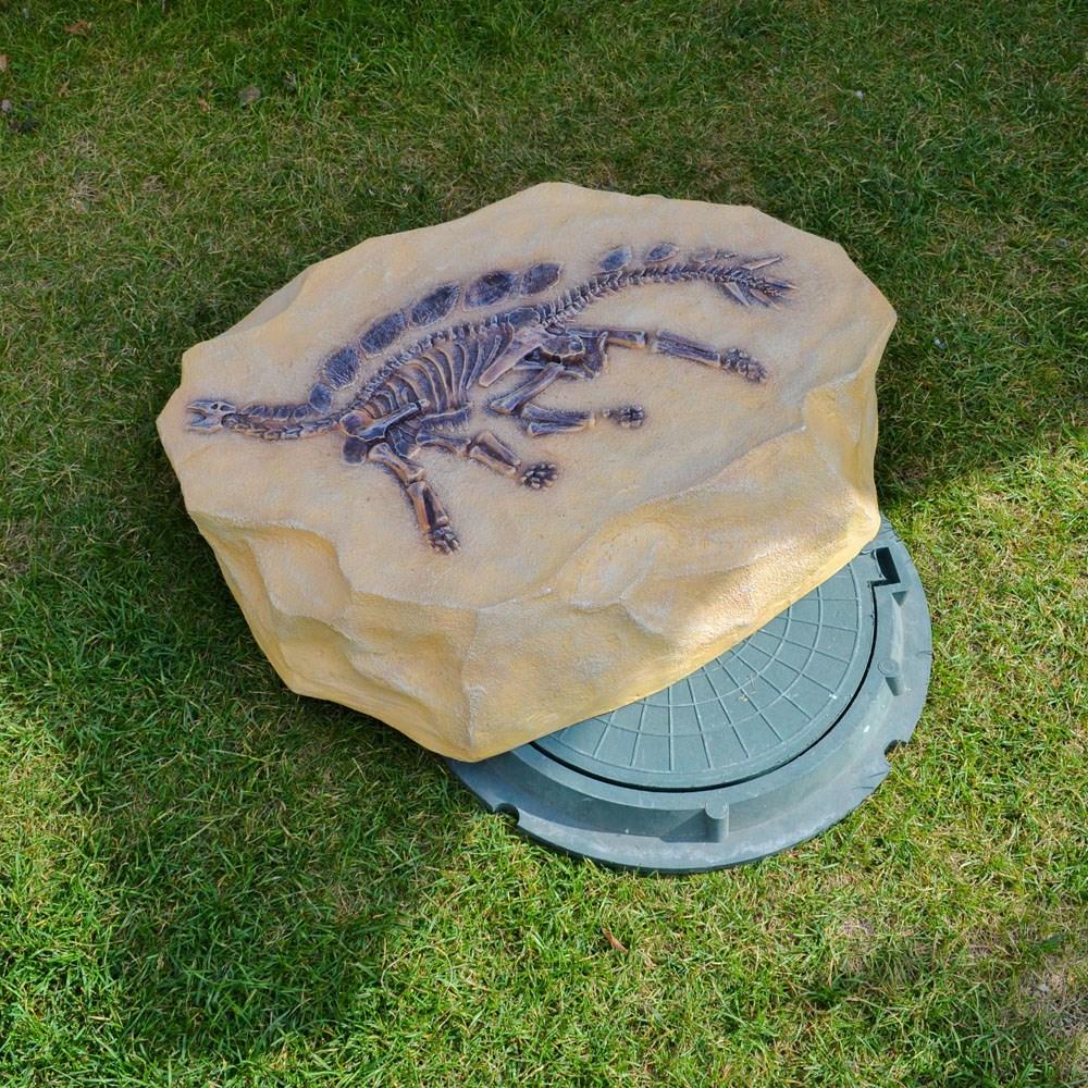 Крышка люка Скелет Стегозавра - фото 15604