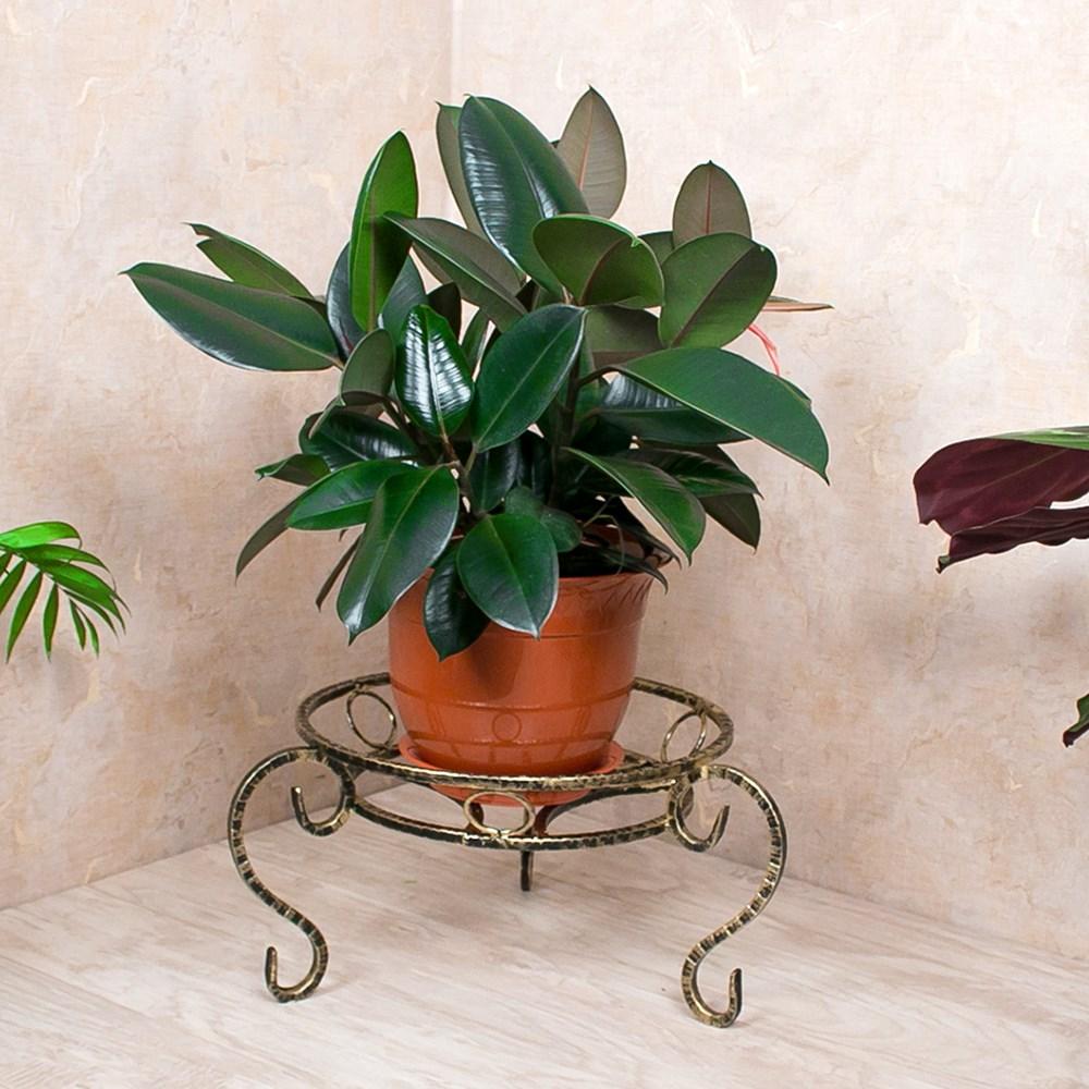 Металлическая подставка под цветок - фото 15924