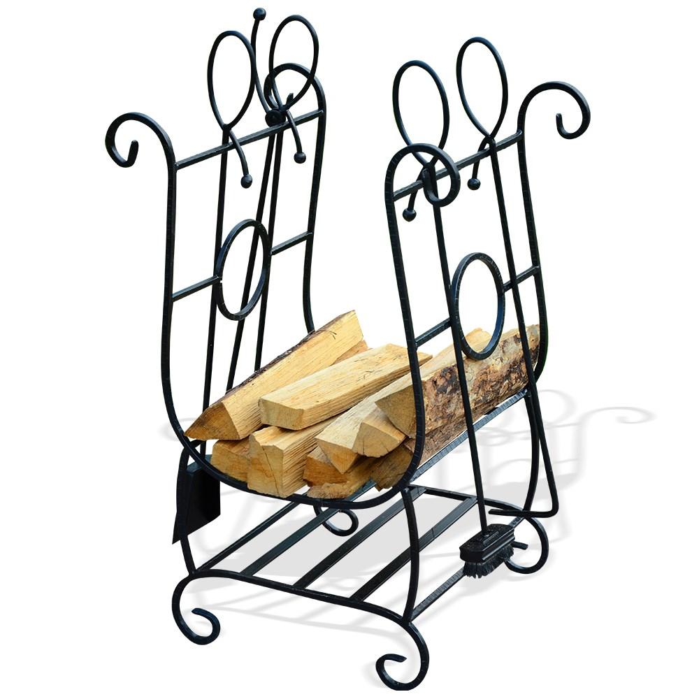 Кованая подставка для дров - фото 17076