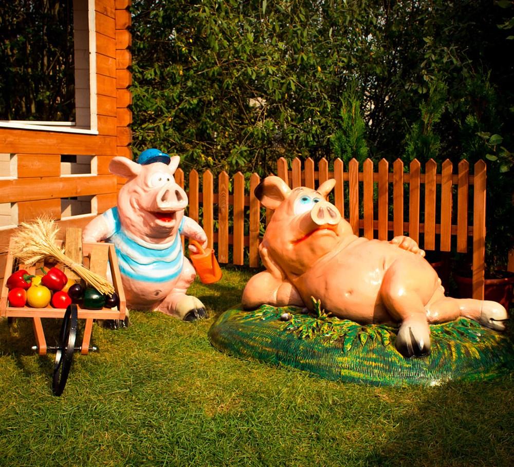 Комплект фигур свинки - фото 17681