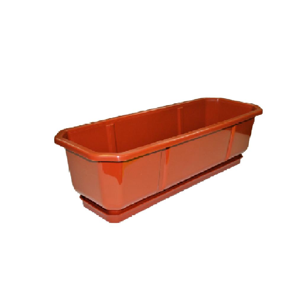 Пластиковый ящик для цветов ДАМА 100*18 - фото 19579