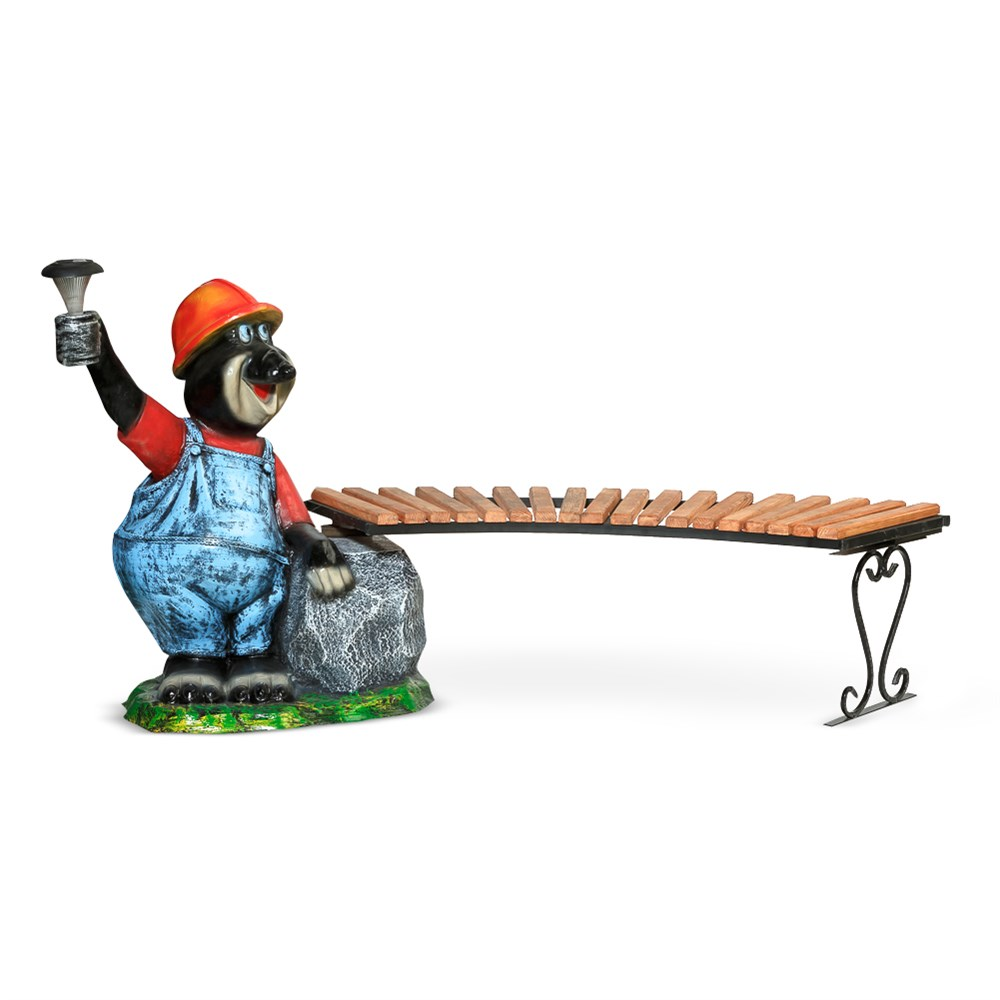 Скамейка крот с тумбой