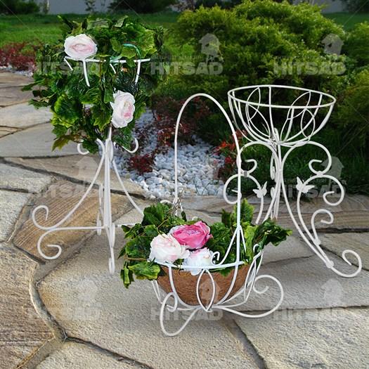 Подставки под цветы из металла садовые