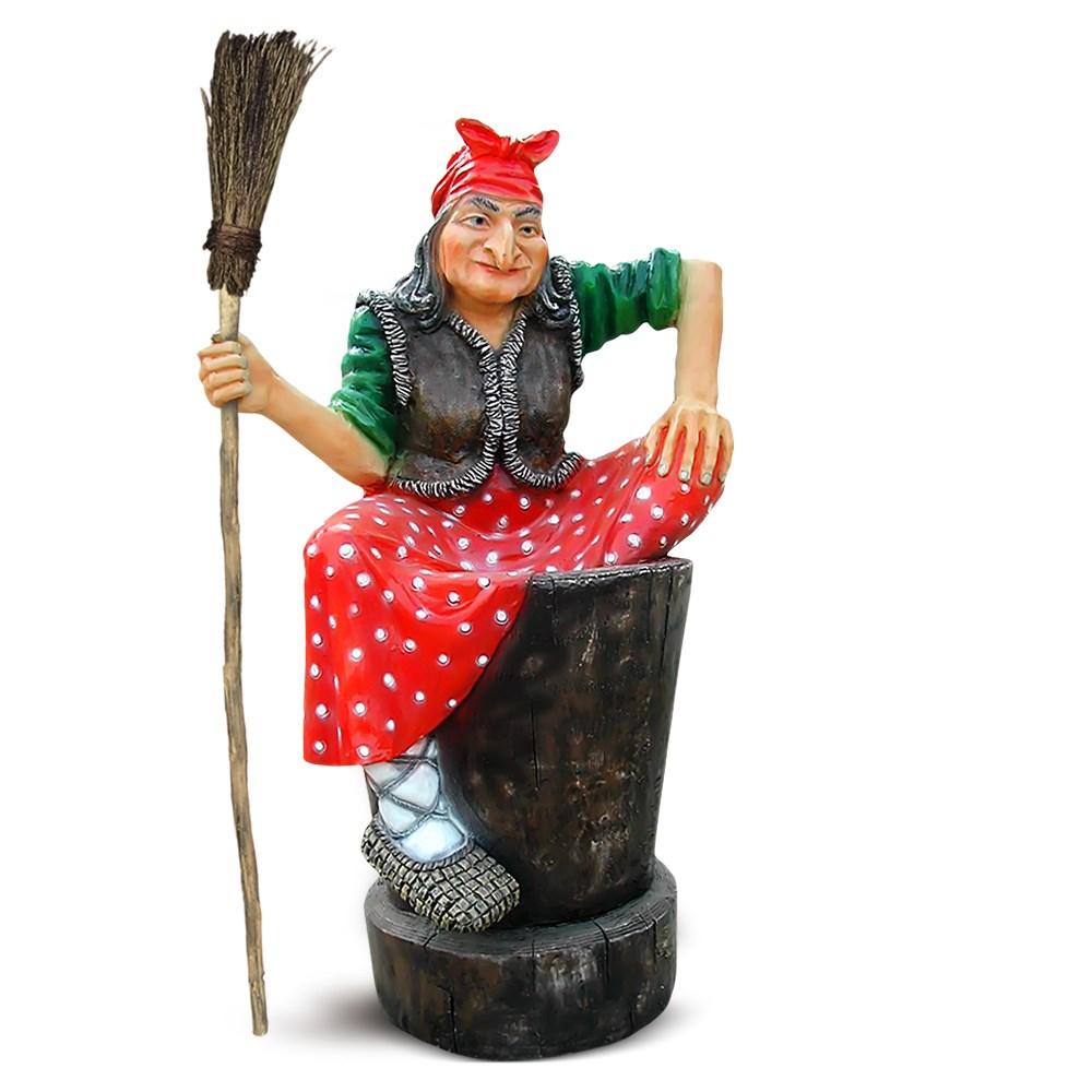 Фигура Бабы Яги для сада